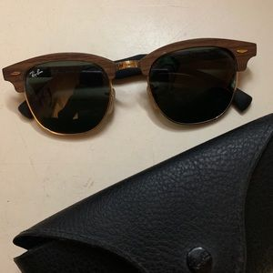 Club master wood ray bans
